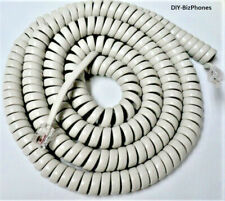 Generic Off White 25 Ft Handset Cord Landline Phone Replacement Coil New In Bag