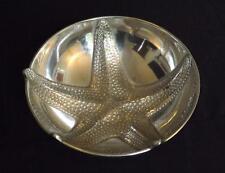 "Mariposa 12 1/2"" Starfish Aluminum Serving Bowl Dish Nautical Decor"