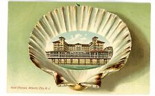 Atlantic City NJ -HOTEL CHELSEA-Lange Schwalbach Shell Border Postcard