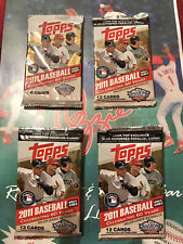 2011 Topps Update Walmart Blue 12 Card Unopened Pack Possible Trout RC