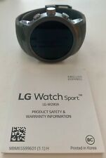 LG Watch Sport W280 Stainless Steel Black 4G AT&T GSM Unlocked Titan/Silver