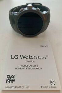 LG Watch Sport W280 Stainless Steel Black 4G AT&T GSM Unlocked Titan/Silver