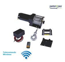 Verricello Elettrico 12V da 3500 Libre per tirare Barca con Telecomando Wireless