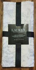 """RALPH LAUREN NAPKINS XMAS HOLLY POINSETTIA WHITE/SILVER COTTON 20""""X20"""" CHRISTMAS"""