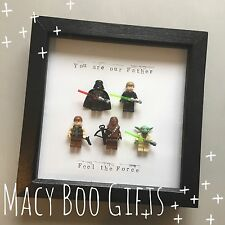 Personalised Fathers Day Gift Present Mini Lego Star Wars  Frame Superhero Dad