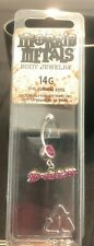 with Bling Belly Button Body Jewelry New 14g Morbid Metals Pink Dream