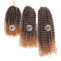 60 Roots/pack Curly Crochet Twist Braids Synthetic Ombre Braiding Hair Extension