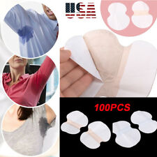 100 pcs Disposable Underarm Sweat Pads Armpit Shield Long Sleeves Wide US Stock