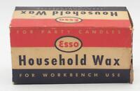 Vintage ESSO Paraffin Wax Design Advertising
