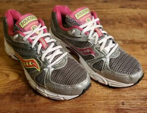 Saucony Cohesion 6 Running Shoes Gray & Pink, Women's Size 7.5 Wide EUR 38.5