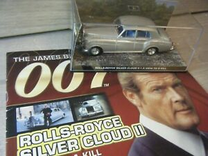 JAMES BOND CAR COLLECTION ROLLS ROYCE SILVER CLOUD II A VIEW TO A KILL #101+BOOK