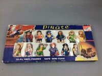 Lot of 12  Vintage SOMA 1990's Pirate Action Figures and Treasure Chest