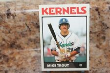 KERNELS BASEBALL MIKE TROUT RC CARD# 28