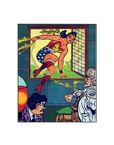 Wonder Woman Coming at You  /DC  /  Golden Age Style Comics Sericel