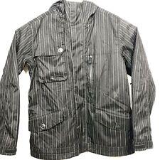 Burton Mens - Sz M - Snowboarding / Ski Black Pin Striped Heavy Dryride Jacket