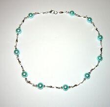SUPERBE Turquoise Aqua Pearl Twist Collier