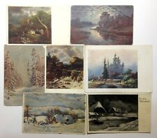 Postcards Lot 7 pcs Old Postcards Vintage postcards Ephemera Paper