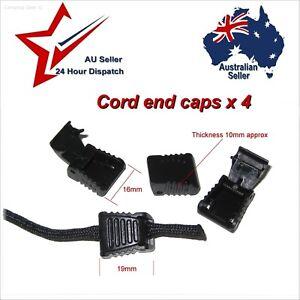Plastic End Locks x 4 for 550 Paracord Zipper Pulls etc: rope cord lock cap stop