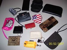 LOT OF COSMETIC BAGS, COIN PURSES, WALLETS, HELLO KITTY, 2 MCDONALD WATCHES  FS