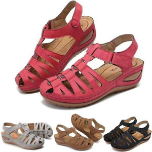 Women Orthopedic Sandals Comfy Closed Toe Mules Summer Slippers Flat Shoes