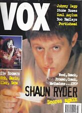 Vox magazine.57 July 1995. Stone Roses /Shaun Ryder / Portishead / Johnny Depp