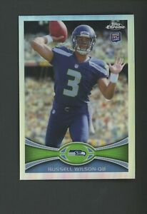 2012 Topps Chrome Refractor Russell Wilson Seattle Seahawks RC Rookie
