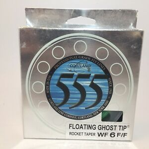 New Cortland 555 Floating Ghost Tip Rocket Taper WF 6 F/F