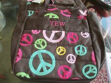 """Pottery Barn Teen Gear Up Tote bag monogrammed """" TEW"""" New with tags"""