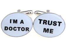 Trust Me I'm A Doctor Physician Cufflinks Wedding Fancy Gift Box Free Ship USA
