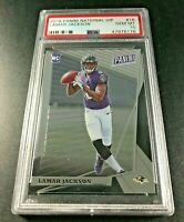 LAMAR JACKSON 2018 PANINI NATIONAL VIP #16 CHROME ROOKIE RC PSA 10 RAVENS NFL