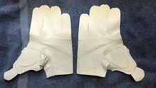White Clarino Hockey Glove Palms - Sold in Pairs- FREE SHIPPING