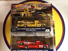 Hot Wheels Team Transport Snake & Moongoose Funny Car With Retro Rig
