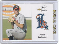 LP~RC~JUSTIN VERLANDER 2005 Just Autographs 06 Preview ROOKIE CARD~05~MVP~CYA~AS