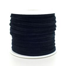 Real Leather/suede Cord 3mm Flat Rustic String - 5 Colours X 2 Metres Black 18266-01