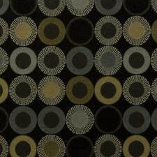 Arc/com YoYo Onyx  Modern Contemporary Geometric  Circle Upholstery Fabric