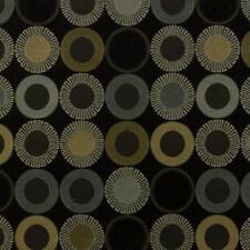 Arc/com YoYo Onyx  Modern Contemporary Geometric  Circle Upholstery Fabric