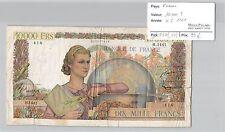 BILLET 10000 FRANCS GENIE FRANCAIS - 4-5-1951**