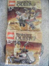 Lego Pharaoh's Quest 30091 30090 Rover avión Lote X 2 Nuevo Partido Polybags