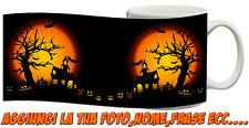 Tazza Personalizzata Happy Hallowen casa spettrale Zucche illuminate