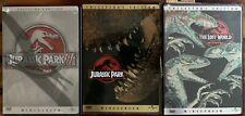 3 Jurassic Park DVD Lot: Steven Spielberg, 2 Collector's Editions & Lost World