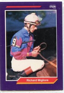 RICHARD MIGLIORE 1992 JOCKEY STAR CARD  # 169