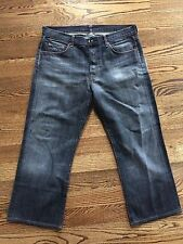 7 Seven For All Mankind Mens Relax Fit Straight Leg Denim Jeans 34 x 27 USA VGUC