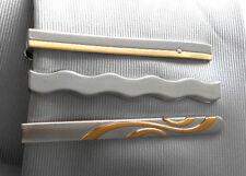 3 Krawattenhalter Krawattennadel bicolor silbern  2. Wahl 12T2