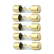 5Pcs AGU Fuse Car Audio Power Safety Protect Glass Tube Gold Plated 60A Sales