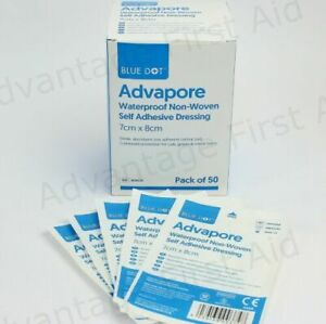 Adhesive Wound Dressings. Large First Aid Sterile Plaster - Advapore.