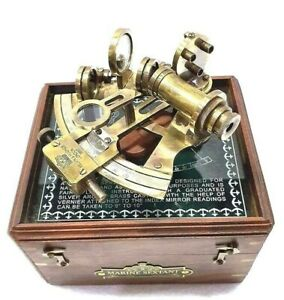 Antique Maritime Nautical Sextant Telescope Vintage Astrolabe Ship's Instruments