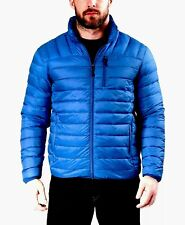 Hawke & Co Men's Packable Down Blend Puffer Outdoor Jacket Sapphire Blue Size M