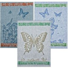 Linen tea towels, a set of 3-pieces. Jacquard weaving, double-sided weaving.