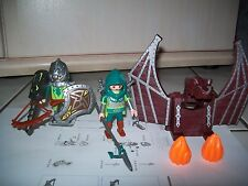 Playmobil 4840 Chevaliers Dragons Verts et catapulte