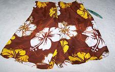 JC Hawaii Boys Swim Trunks Size Large Rust Hibiscus Pockets